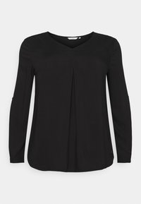 MY TRUE ME TOM TAILOR - BLOUSE WITH PLEAT - Blouse - deep black - 0
