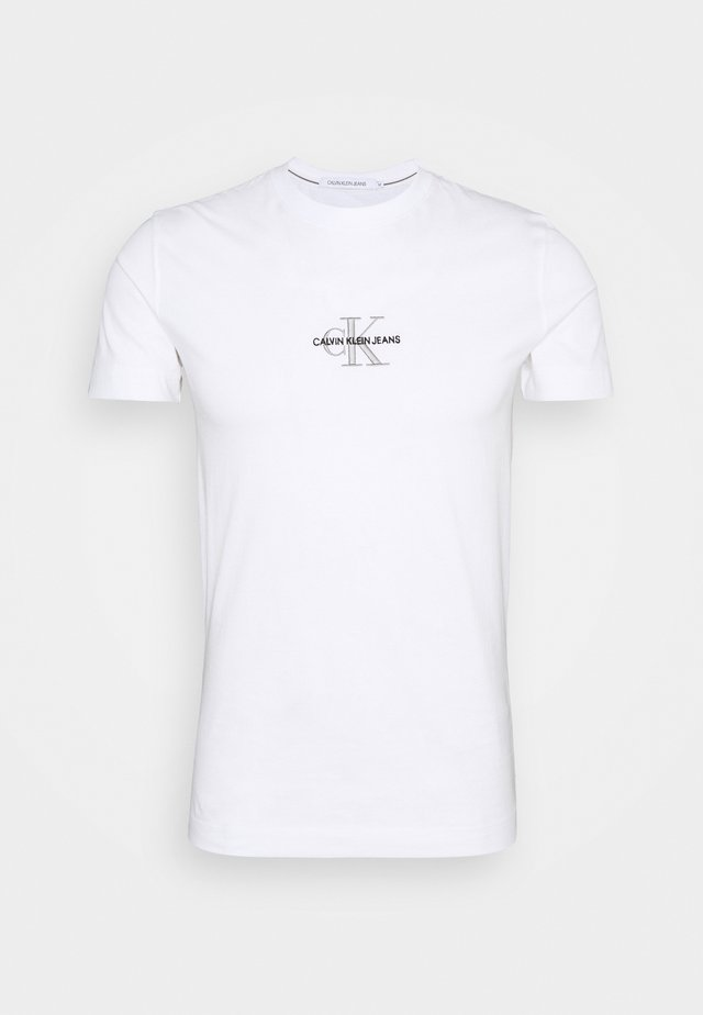 NEW ICONIC ESSENTIAL TEE - Print T-shirt - bright white
