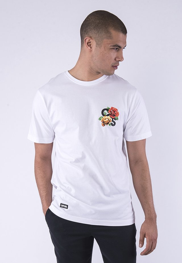 T-shirt print - white/mc