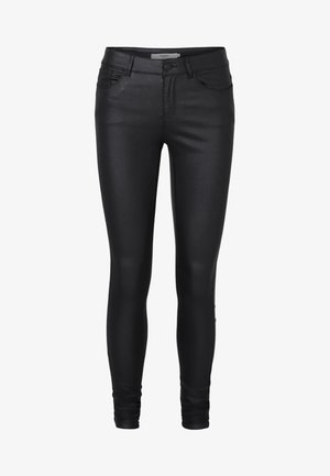 VMSEVEN SMOOTH COATED PANTS - Pantaloni - black