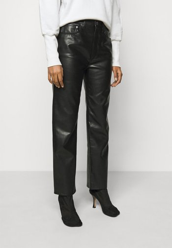 FITTED 90'S - Leather trousers - detox