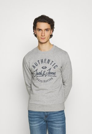 JJHERO CREW NECK - Sweatshirt - light grey melange