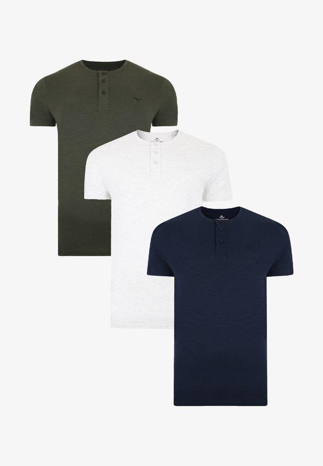 3 PACK - T-shirt basic - grün