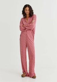 PULL&BEAR - Trousers - mottled light pink - 1