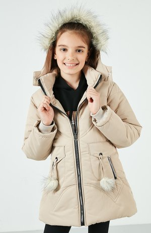 LELA  - Winter coat - stone colored