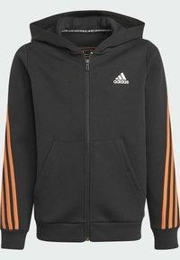 adidas Performance - STRIPES DOUBLEKNIT FULL-ZIP HOODIE - Training jacket - black - 4