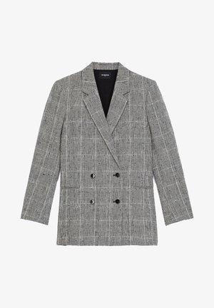 Classic coat - black white