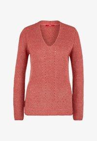 dark red knit