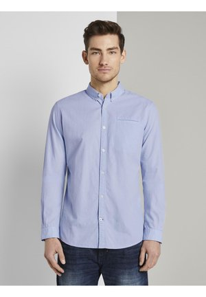 IM SLIM FIT - Shirt - light blue white structure