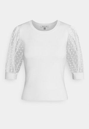 ADA SHEER SLEEVE - Jumper - porcelain