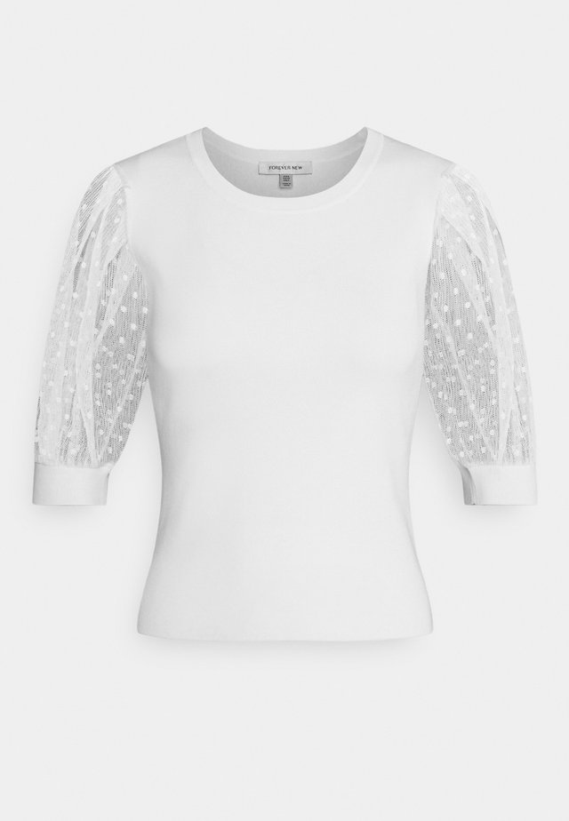 ADA SHEER SLEEVE - Neule - porcelain