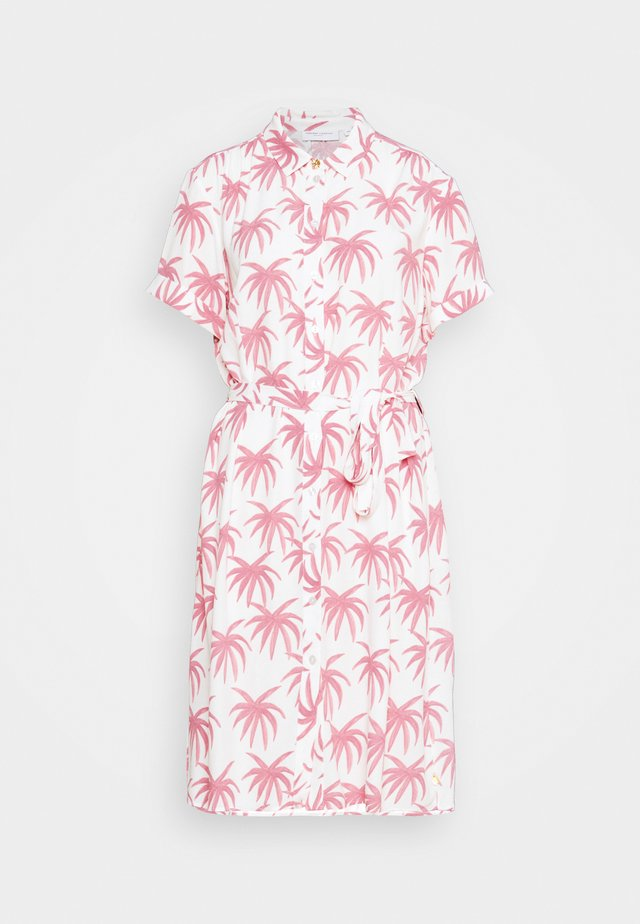 BOYFRIEND CARA DRESS - Skjortekjole - white/pink