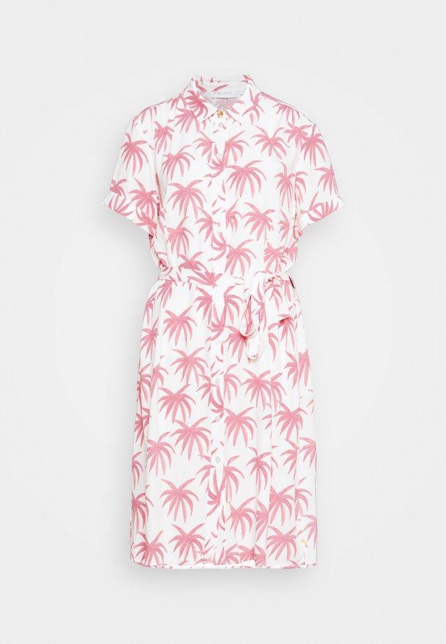 BOYFRIEND CARA DRESS - Skjortklänning - white/pink