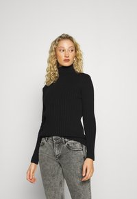 Marc O'Polo - LONGSLEEVE TURTLE NECK STRUCTURE - Svetr - black - 0