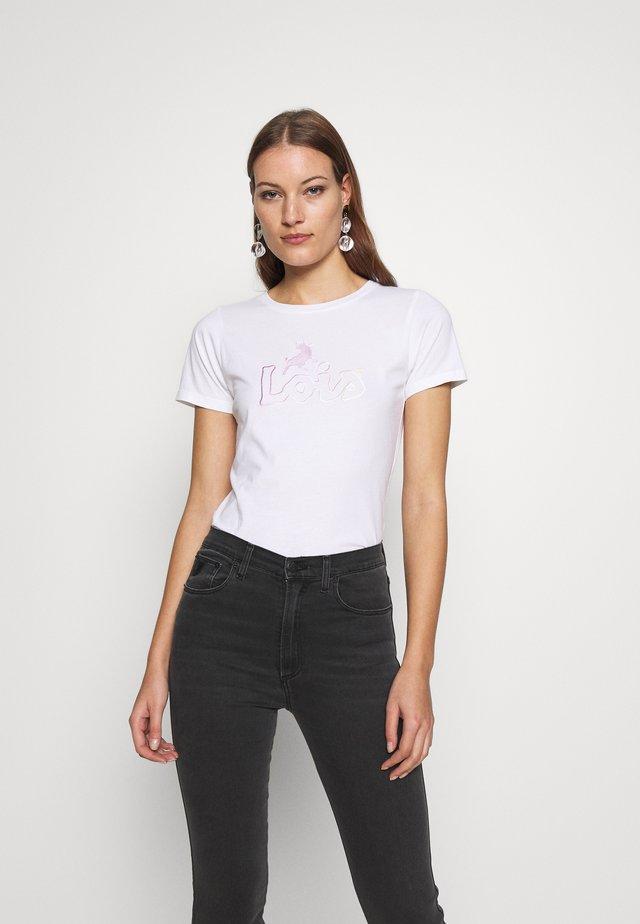 PERFECT TEE - T-shirt z nadrukiem - white