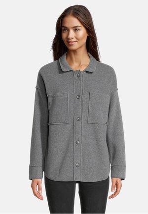 MIT AUFGESETZTEN TASCHEN - Overhemdblouse - grey melange