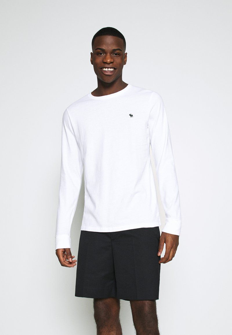 Abercrombie & Fitch - FALL ICON CREWS - Long sleeved top - white
