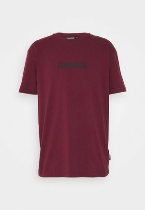 BOX UNISEX - T-shirt con stampa - vint amaranth