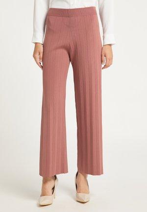 Trousers - dunkelrosa