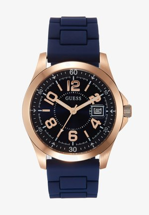 UNISEX SPORT DATE - Montre - blue/rose gold-coloured