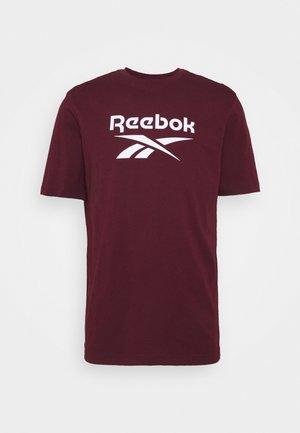 VECTOR TEE - Print T-shirt - maroon