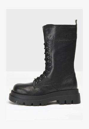 Lace-up boots - black blk