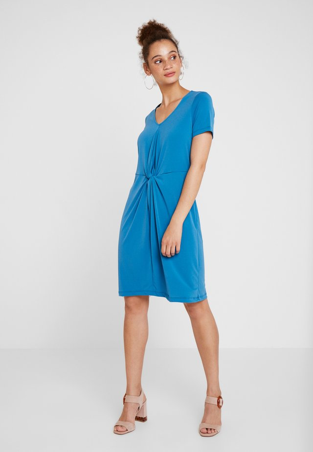 DRESS INTERLOCK - Vestito di maglina - blue petrol