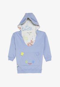 Lucy & Sam - PIXEL PARADISE HUGEEE BABY - Felpa con cappuccio - blue mauve - 3
