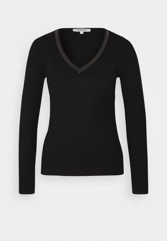 FAUSTI - Stickad tröja - noir