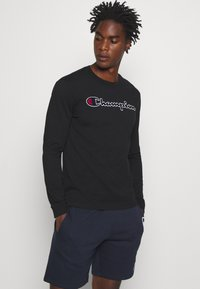 Champion - ROCHESTER CREWNECK LONG SLEEVE - Long sleeved top - black - 0