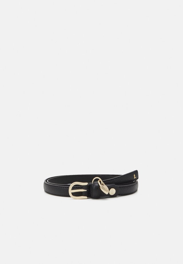 BELT FIBBIA TONDA GRANA CERVO - Belt - black