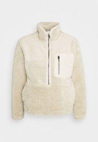 ONLDALINA ZIP - Fleece jumper - pumice stone