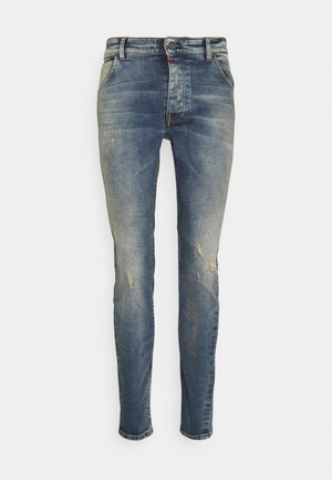 BILLY THE KID DESTROYED - Slim fit -farkut - vintage mid blue