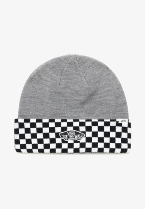 BREAKIN CURFEW - Beanie - heather grey/checkerboard
