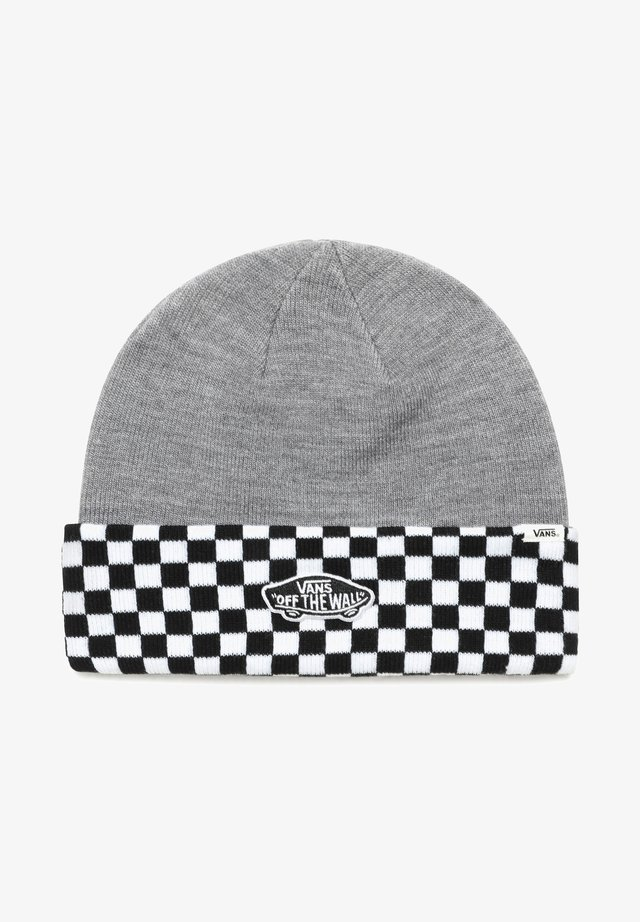 BREAKIN CURFEW - Mütze - heather grey/checkerboard