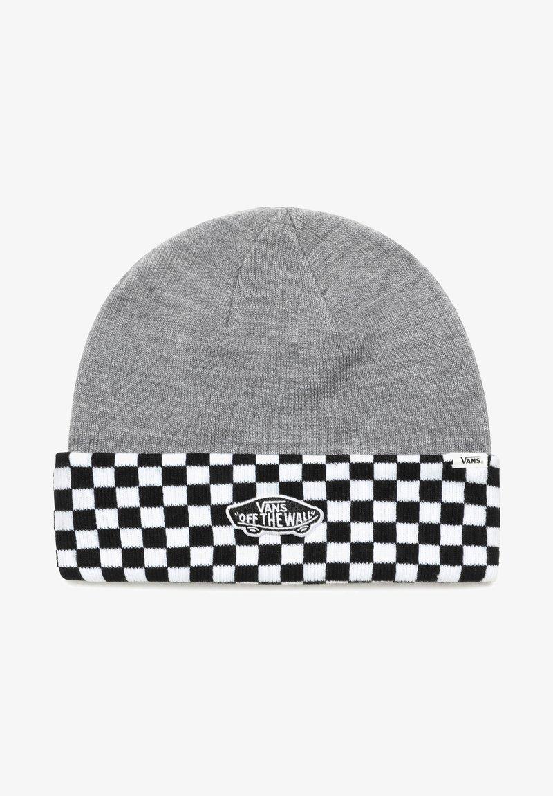 Vans - WM BREAKIN CURFEW BEANIE - Beanie - heather grey/checkerboard