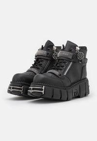 New Rock - UNISEX - Lace-up ankle boots - black - 1