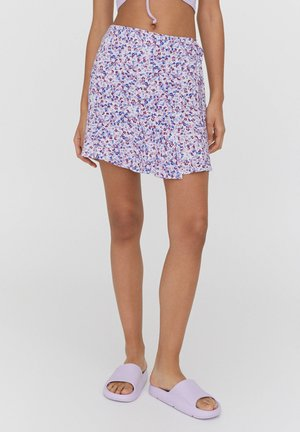 A-line skirt - mottled rose
