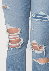 American Eagle - HI RISE - Jeggings - shadow patched blues - 4