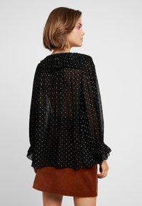 Leon & Harper - CHAMPETRE DOTS - Button-down blouse - black iris - 2
