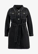 MINI DRESS - Denim dress - black