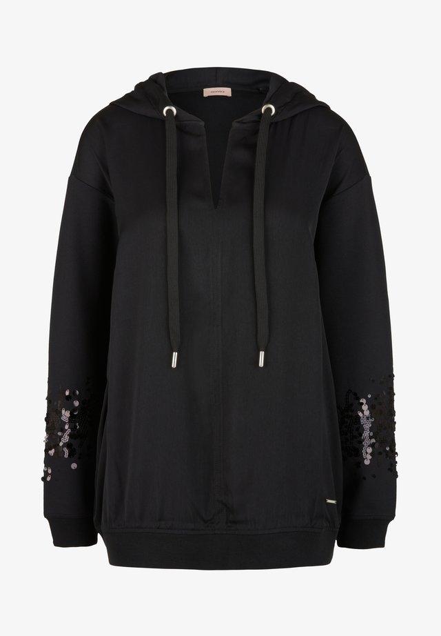 Hoodie - black sequins