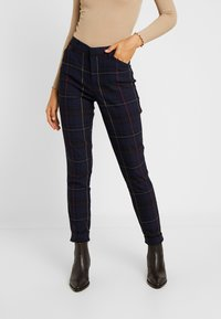 Gap Tall - ANKLE BISTRETCH - Kalhoty - grid plaid - 0