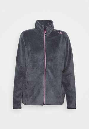 WOMAN JACKET - Kurtka z polaru - graffite-pink fluo