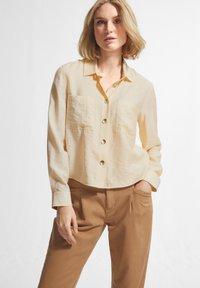comma casual identity - Button-down blouse - off-white - 0