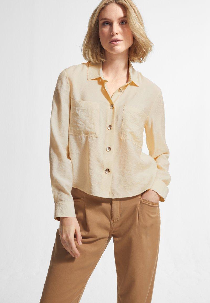 comma casual identity - Button-down blouse - off-white