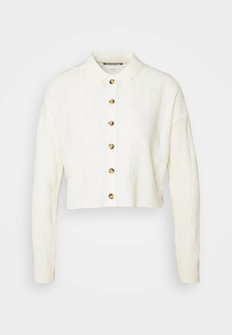 Fashion Union Tall - NELLY - Cardigan - cream