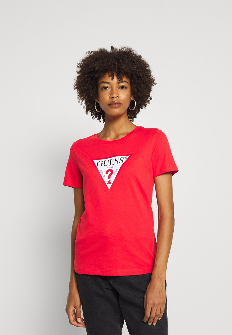 Guess - T-shirt print - necessary red