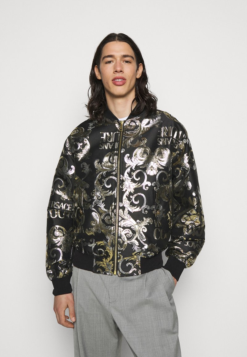 Versace Jeans Couture - BROCCATO LOGO BAROQUE  - Bomber Jacket - black