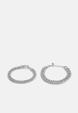 PCBIRDIE BRACELET 2 PACK  - Bracelet - silver colour